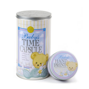 Baby Time Capsule & Hand Print Kit Combo