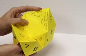 Organize Paperwork - Origami Fortune Teller