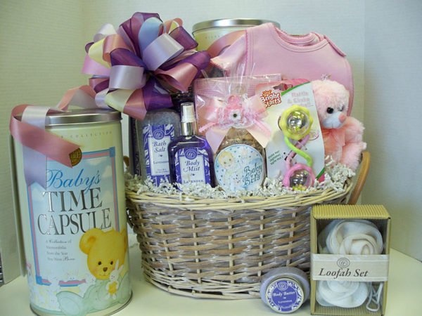 Baby Gift Basket Co : Baby gift basket ideas time capsule company