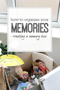Decorating a Memory Box - Organizing