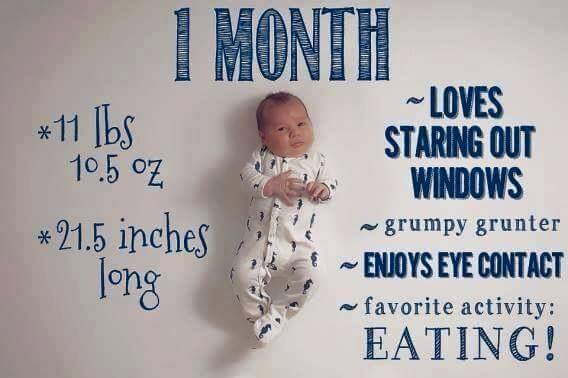 Memories from Baby's First Month | Time Capsule Company